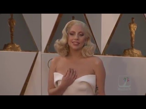 Lady Gaga Gives it up for her little Monsters on OSCARS Red Carpet