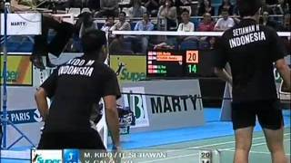 Yonex Badminton French Open 2008 Markis KIDO 1 Hendra SETIAWAN Vs Yun CAI 6 Chen XU Yonex Badminton French Open 2008 Final1