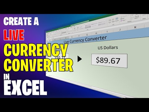 Create A Live Currency Converter In Excel
