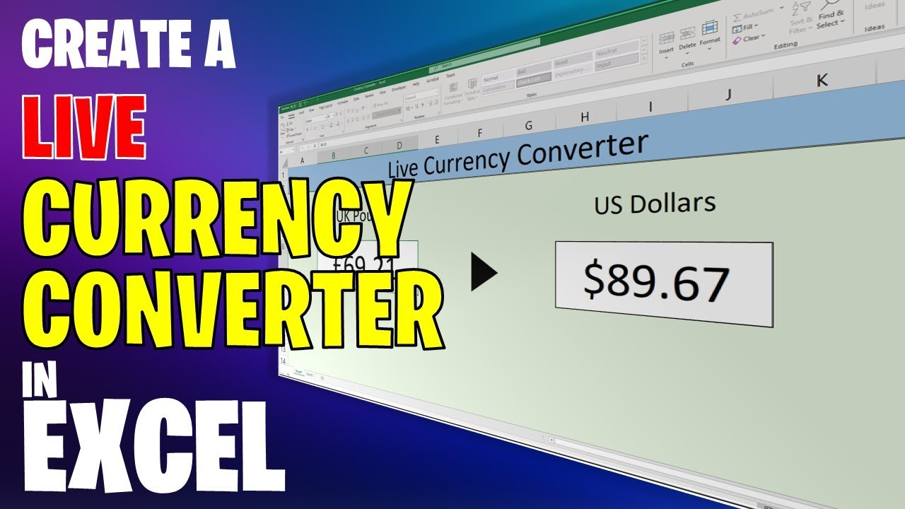 Currency Converter In Excel