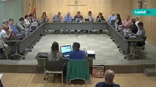 Ajuntament de Calafell: Sessió plenària ordinària, 10 de juny de 2019