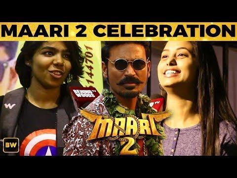 Superstar-  Dhanush  Maari 2 FDFS Celebration at Rohini Theatre