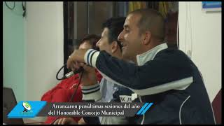 Arrancaron penúltimas sesiones del año del Honorable Concejo Municipal