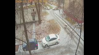 Фото Два таксиста это сила. ДТП Москва 11.2020
