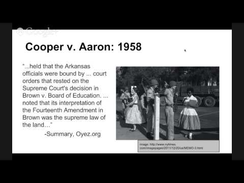 The Supreme Court Precedent Cases: Cooper v. Aaron 1958