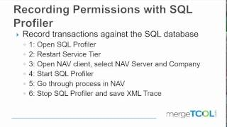 Recording Permissions with SQL Profiler