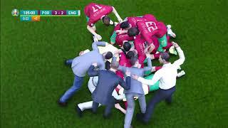 RONALDO VS KANE   EXTRA TIME + Penalty Shootout   UEFA EURO 2020   PORTUGAL VS ENGLAND...