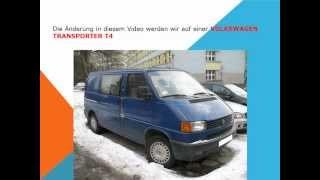 So ersetzen Sie den innenraumfilter auf einem Volkswagen Transporter T4