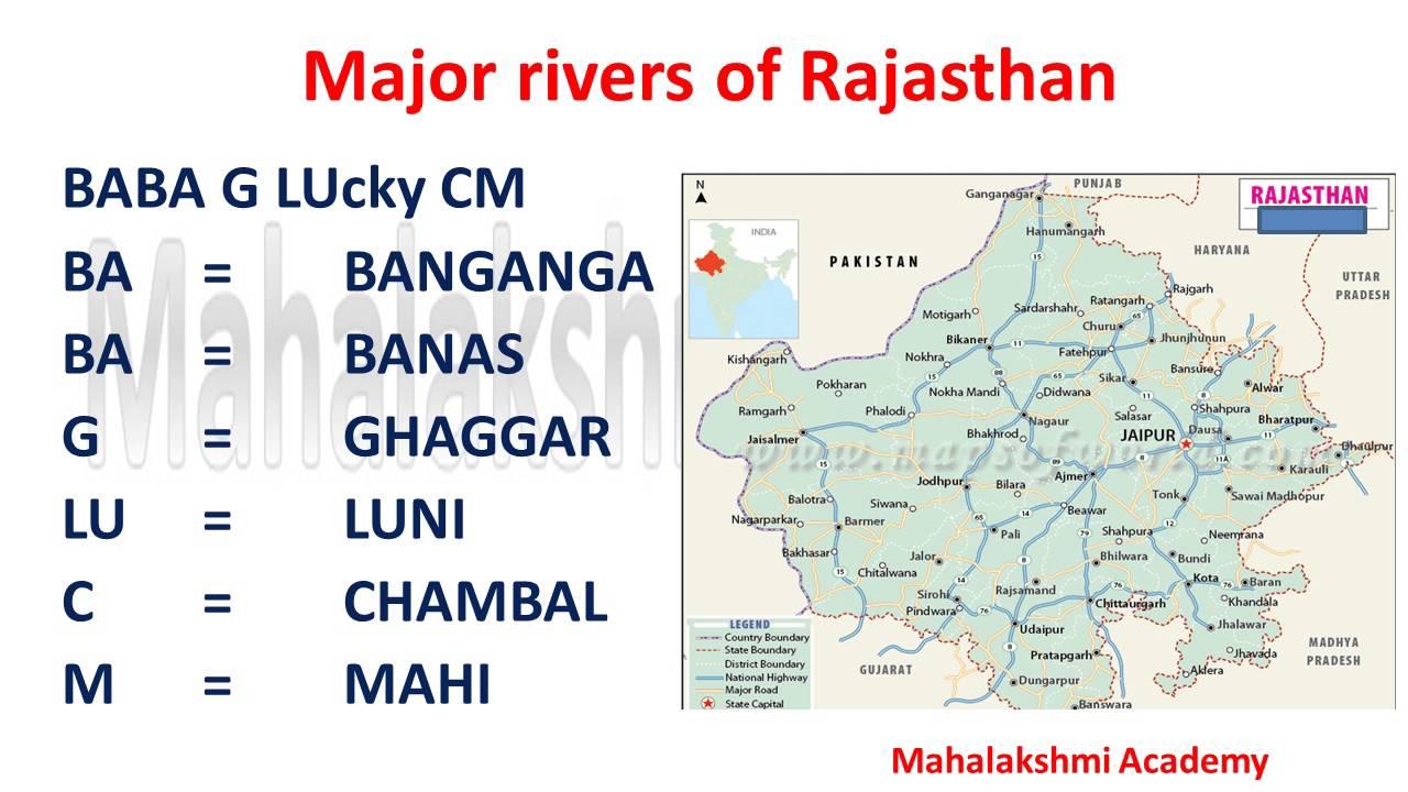 Major rivers of rajasthan with tricks mahalakshmi academy youtube altavistaventures Gallery