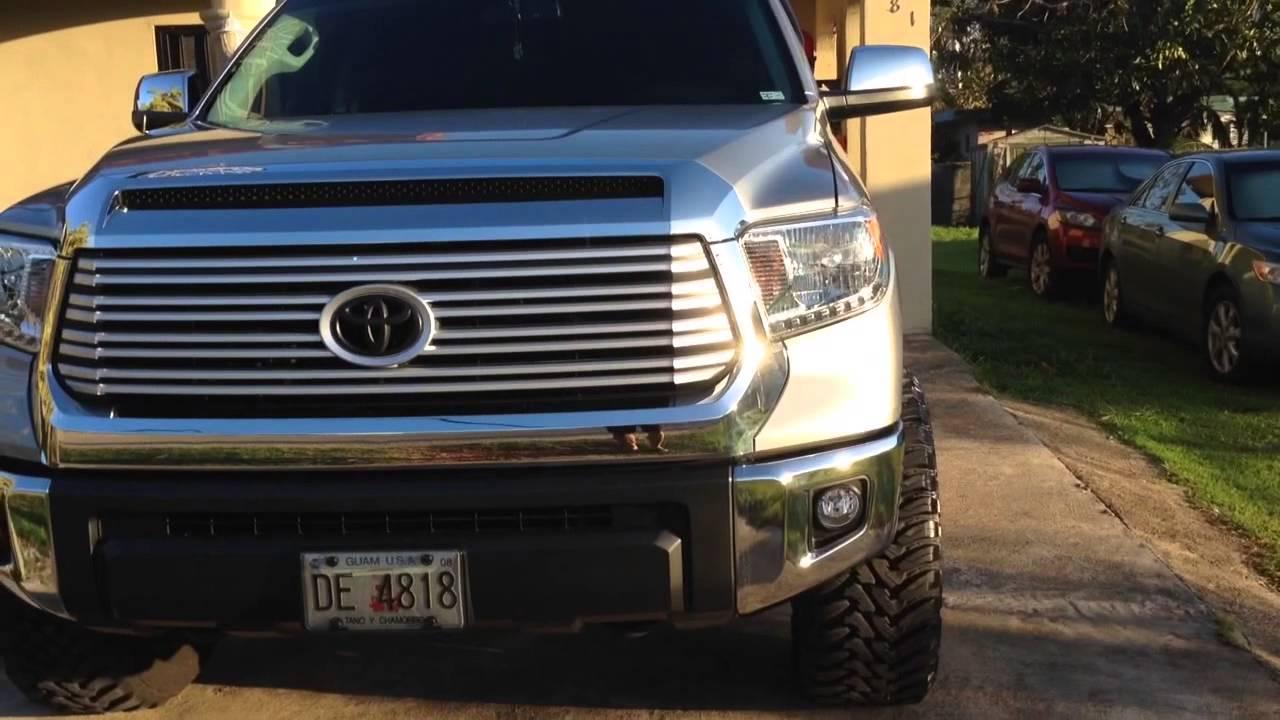 "Tundra Limited 2016 >> 2014 Tundra Limited 3"" Level 33"" on 20"" wheels - YouTube"
