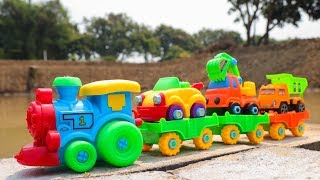 Construction Train For Children - Trailer Truck , Excavator ,Dump truck, Car Toys For Kids