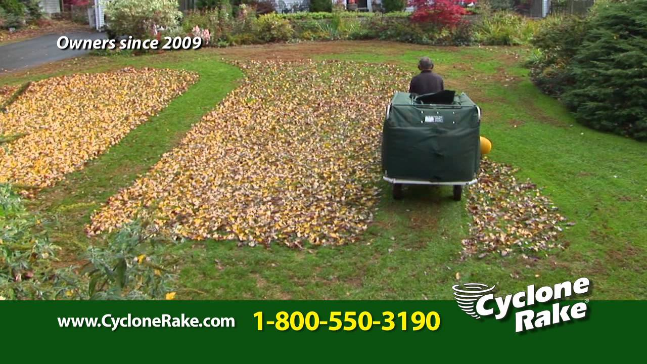 Cyclone Rake Lawn And Leaf Vac For Fall Leaf Clean Up