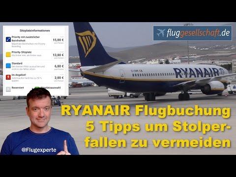 Billigflieger - 5 mögliche teure Stolperfallen / Tricks bei Ryanair umgehen