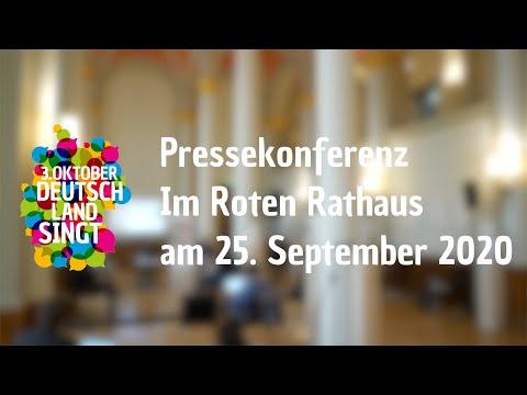 """Pressekonferenz der Initiative """"3. Oktober  – Deutschland singt"""""""