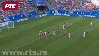 Srbija – Kostarika 1:0, Kolarov strelac iz slobodnog udarca