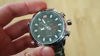 Мужские часы Naviforce Savonna Silver / 9093. Как настроить. Видео обзор!