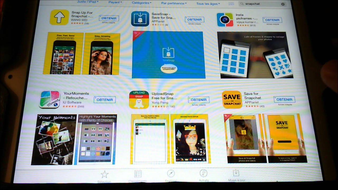 Tinla Comment Avoir Snapchat Sur Tablette Ipad Youtube