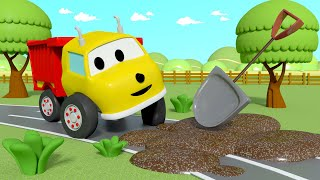 Learn Colors - Ethan Finds SURPRISES in a MUDDY Road - Lerne mit Ethan der Kipplaster 🚚