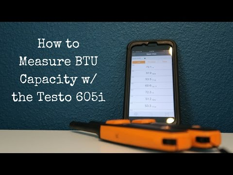 How to Measure Cooling Capacity with the Testo 605i & the Smart Probes App