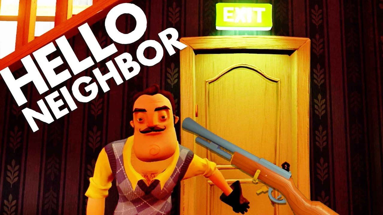 Hello Neighbor SECRETS! HOW TO KILL SHARK, FIND GUN ...