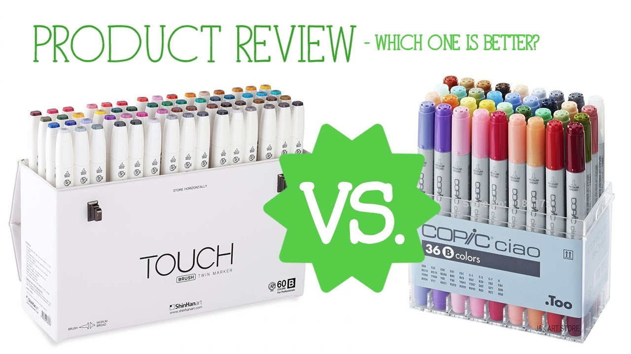 TOUCH VS  COPIC (Brush Tip) - Which One is Better?
