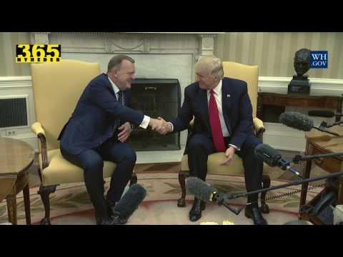 Statsminister Lars Løkke Rasmussen på besøg hos USAs præsident Donald Trump