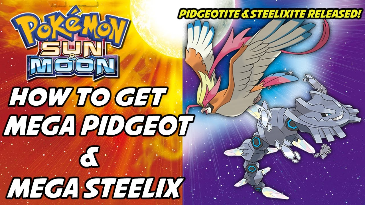 how to get pidgeotite in sun and moon