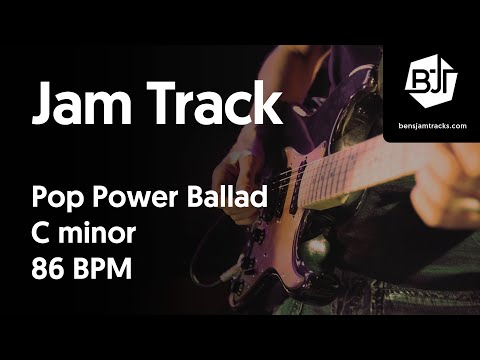 Pop Power Ballad Jam Track in C minor 86 BPM
