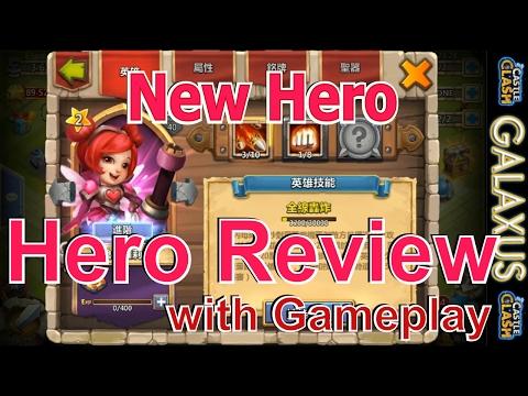 |:|First Look|:| Heartbreaker Valentine Hero Gameplay/Hero Review She's Pretty OP Guys(Castle Clash)