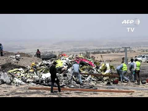 Workers Clean Debris At Ethiopia Plane Crash Site