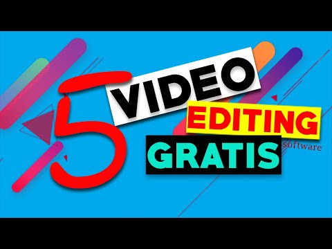 5 free video editing software/ 5 video editing gratis Haitian creole