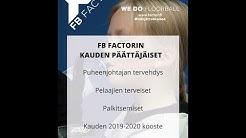 FB Factor kauden 2019-2020 päättäjäiset