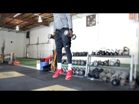 Top 10 Vertical Drills [#5 Dumbbell Rhythm Squat Jumps] | Overtime Athletes