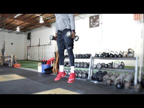 Top 10 Vertical Drills [#5 Dumbbell Rhythm Squat Jumps] | Overtime Athletes