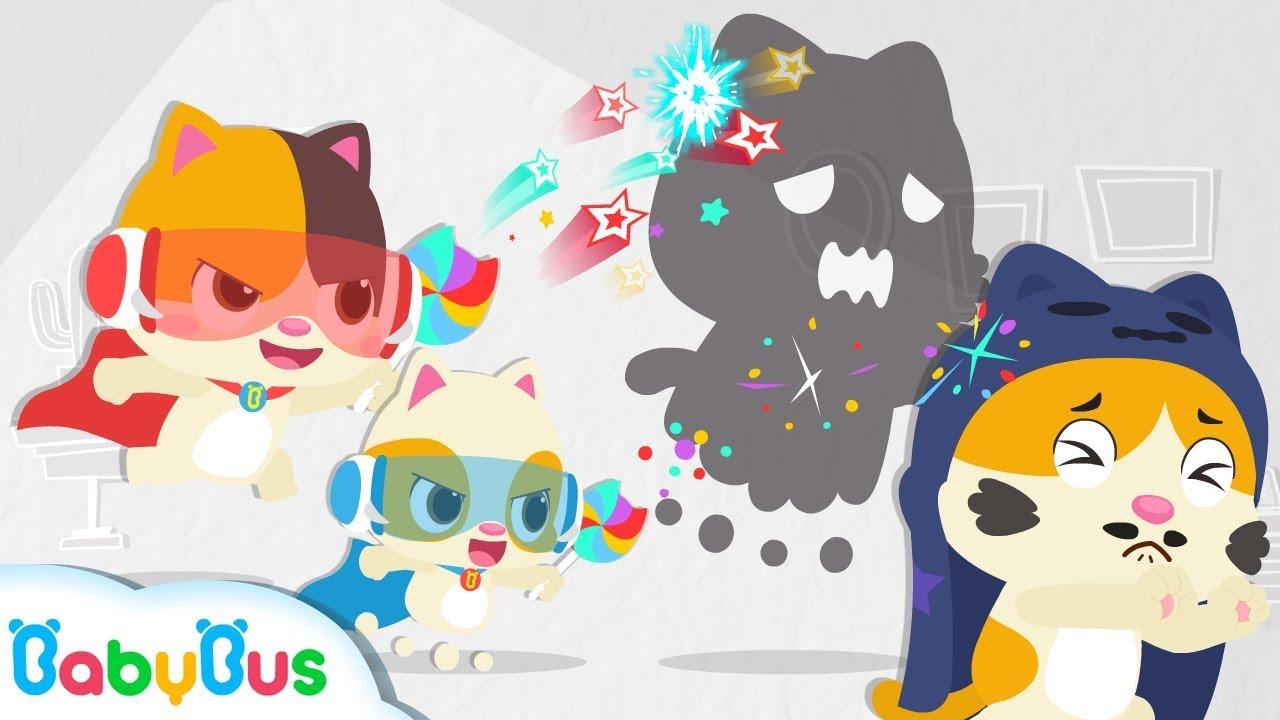 Biệt đội siêu anh hùng mèo con Mimi & Timi | Hoạt hình – Nhạc thiếu nhi vui nhộn cho bé | BabyBus