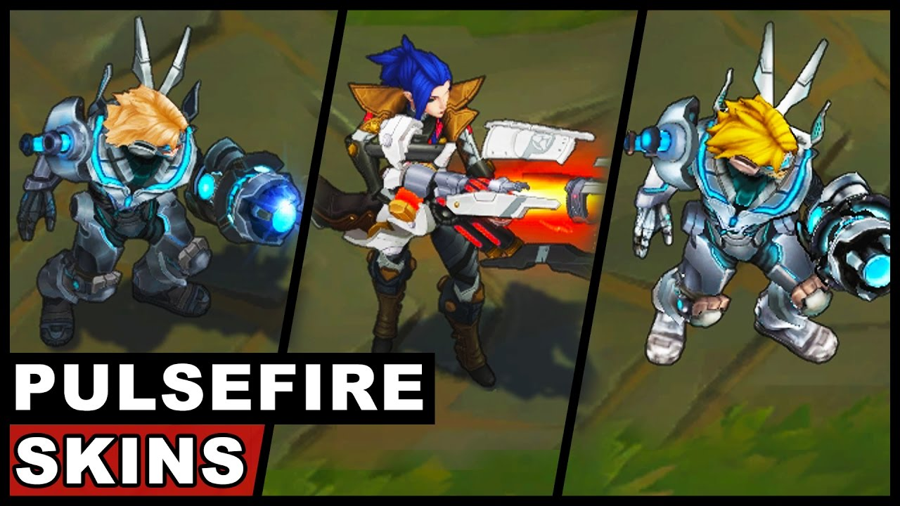 All Pulsefire Skins Caitlyn And Ezreal Legendary And Ultimate Skins