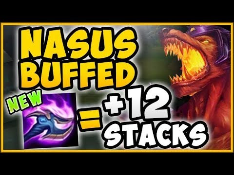 WTF 500 STACKS IN 20 MINUTES MADE HIM RAGE QUIT NASUS BUFFED SEASON 9 GAMEPLAY League of Legends
