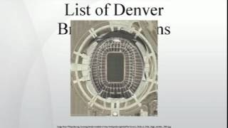 List of Denver Broncos seasons