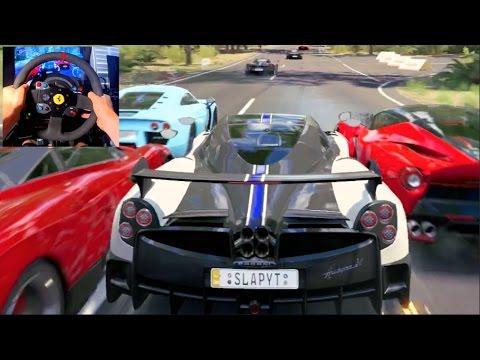 Forza Horizon 3 GoPro ONLINE Co-op Races - Pagani Huayra BC ( Smoking Tires DLC)