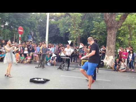 Live music at Hanoi walking street   May2017