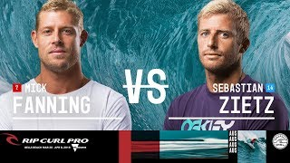 Mick Fanning vs. Sebastian Zietz - Round Three, Heat 5 - Rip Curl Pro Bells Beach 2018