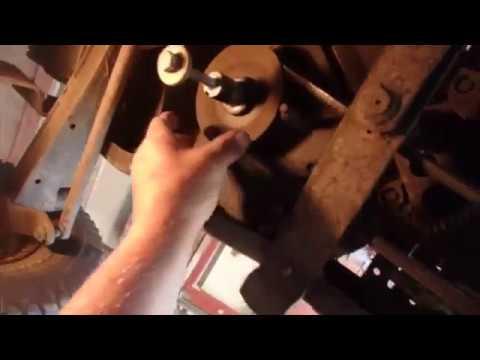 John Deere 165 mower clutch removal
