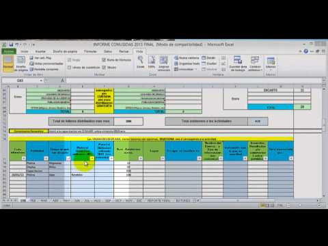 VIDEO TUTORIAL UNO LLENADO DEL INFORME MENSUAL - YouTube - formatos de informes gerenciales