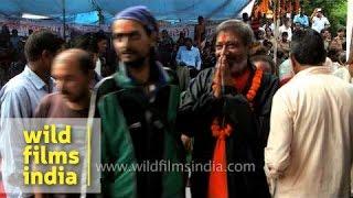 Mass gathering of pilgrims during Nanda Devi Raj Jat Yatra