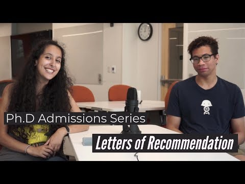 Ph.D Admissions Series: Letters Of Recommendation
