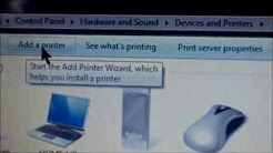 HOW TO INSTALL PRINTER DRIVERS- NO SOFTWARE DISC REVIEW