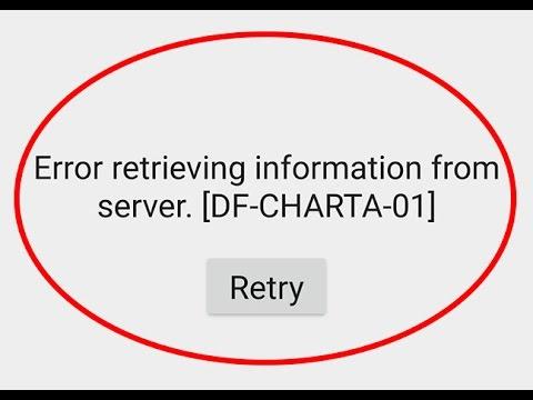How to fix Error retrieving information from server[DF-CHARTA-01]