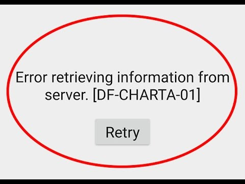 How to fix Error retrieving information from server[DF-CHARTA-01]