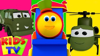 Bob The Train Visit To The Army Camp | Kids TV cartoon | kids TV video for children | kids TV show thumbnail