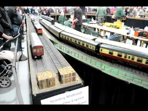 Live Steam model trains at the 2012 Garden Railway Show Leamington Spa